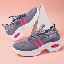 Lace Up Decor Air Cushion Sneakers