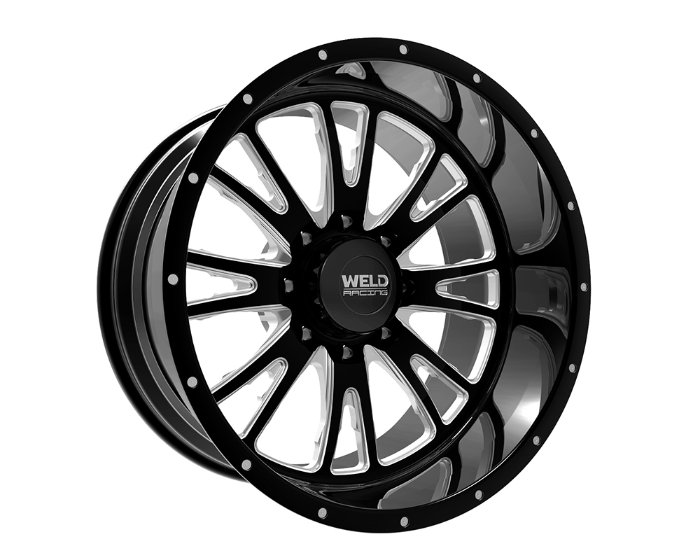 Weld Racing 83B2-22265-510N XT Slingblade 22x12 6x5.5 -51mm Black Gloss & Contrast Cut Smooth Lip