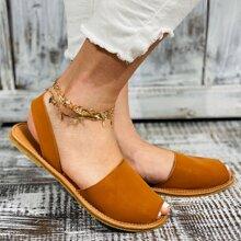 Sandalen mit Zehenfrei und Fersenriemen