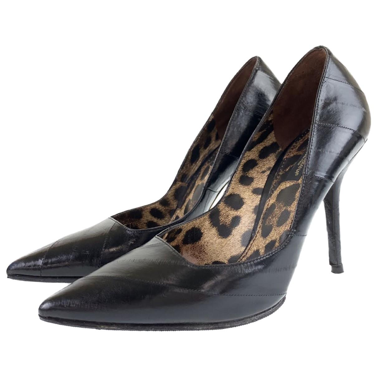 Dolce & Gabbana - Escarpins   pour femme en cuir