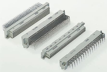 ERNI 64 Way 2.54mm Pitch, Type C Class C2, 2 Row, Straight DIN 41612 Connector, Socket