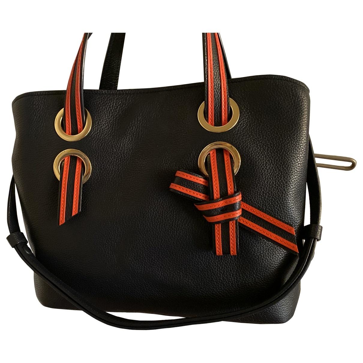 Paule Ka \N Navy Leather handbag for Women \N