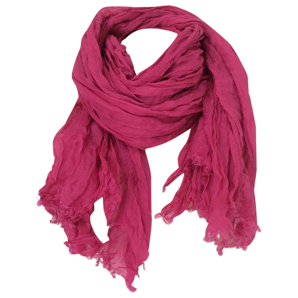 Max Mara - Foulard   pour femme en lin - rose
