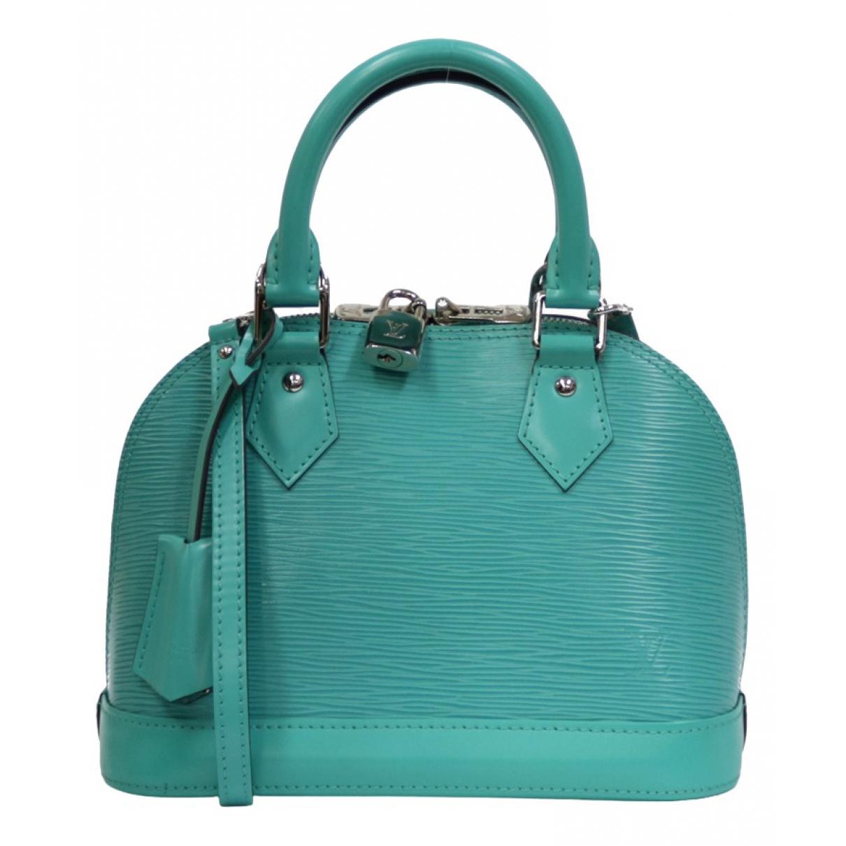 Louis Vuitton - Sac a main Alma BB pour femme en cuir - turquoise