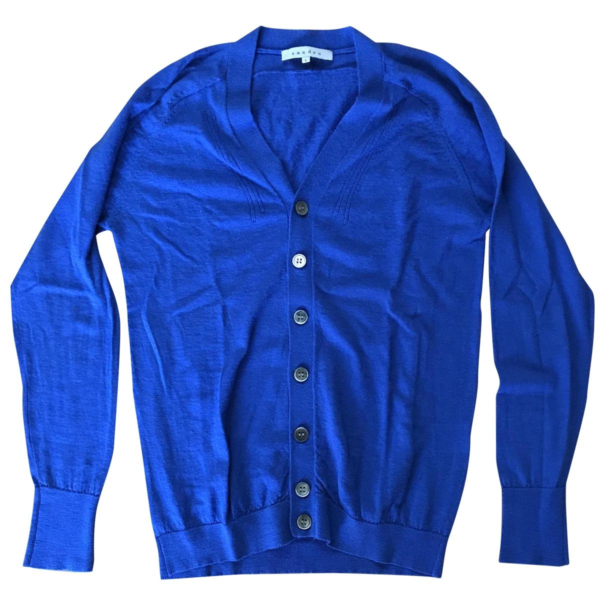 Sandro \N Blue Wool Knitwear & Sweatshirts for Men L International