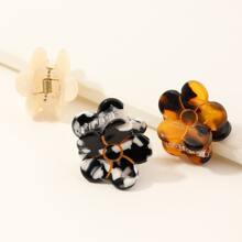 3 piezas garra de pelo con flor