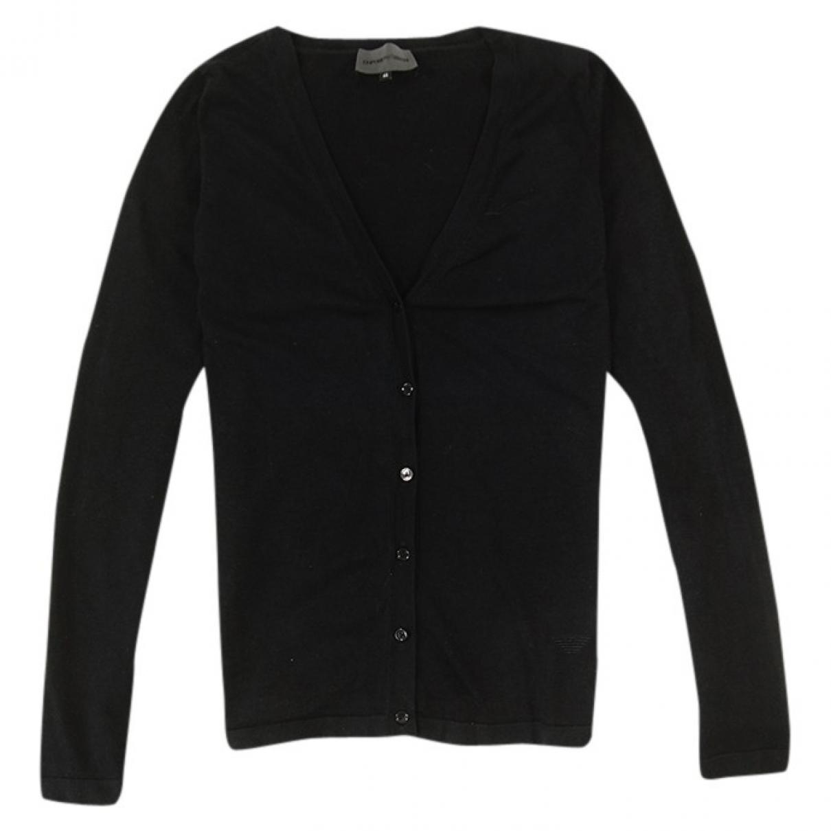 Emporio Armani \N Pullover in  Schwarz Seide