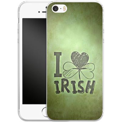 Apple iPhone 5 Silikon Handyhuelle - I Love Irish von caseable Designs