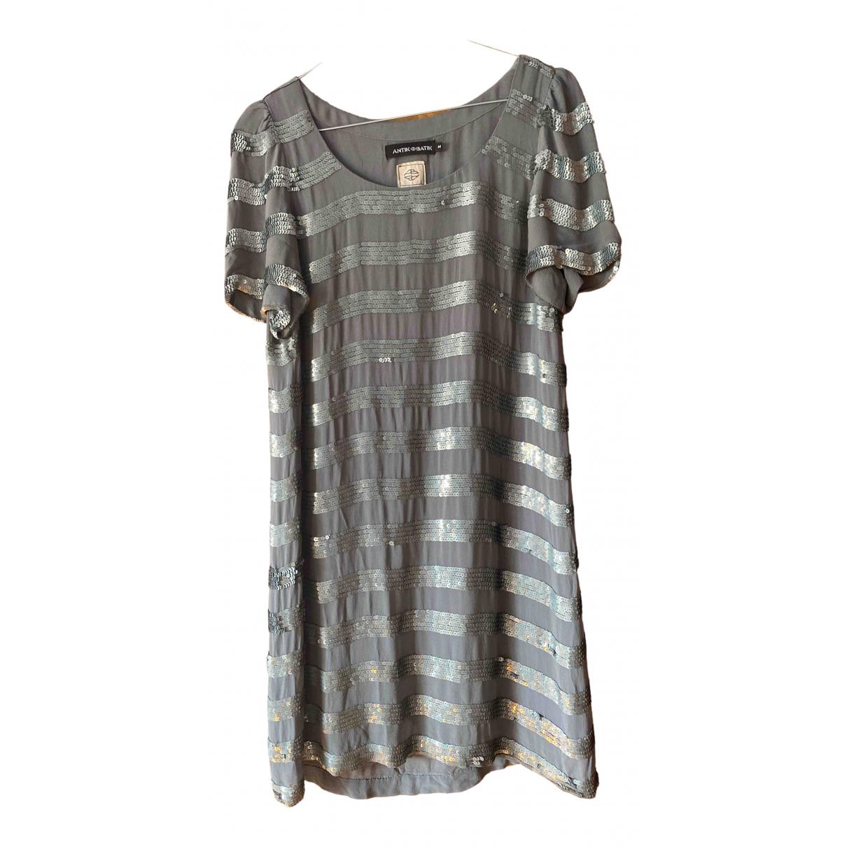 Antik Batik \N Kleid in  Grau Viskose