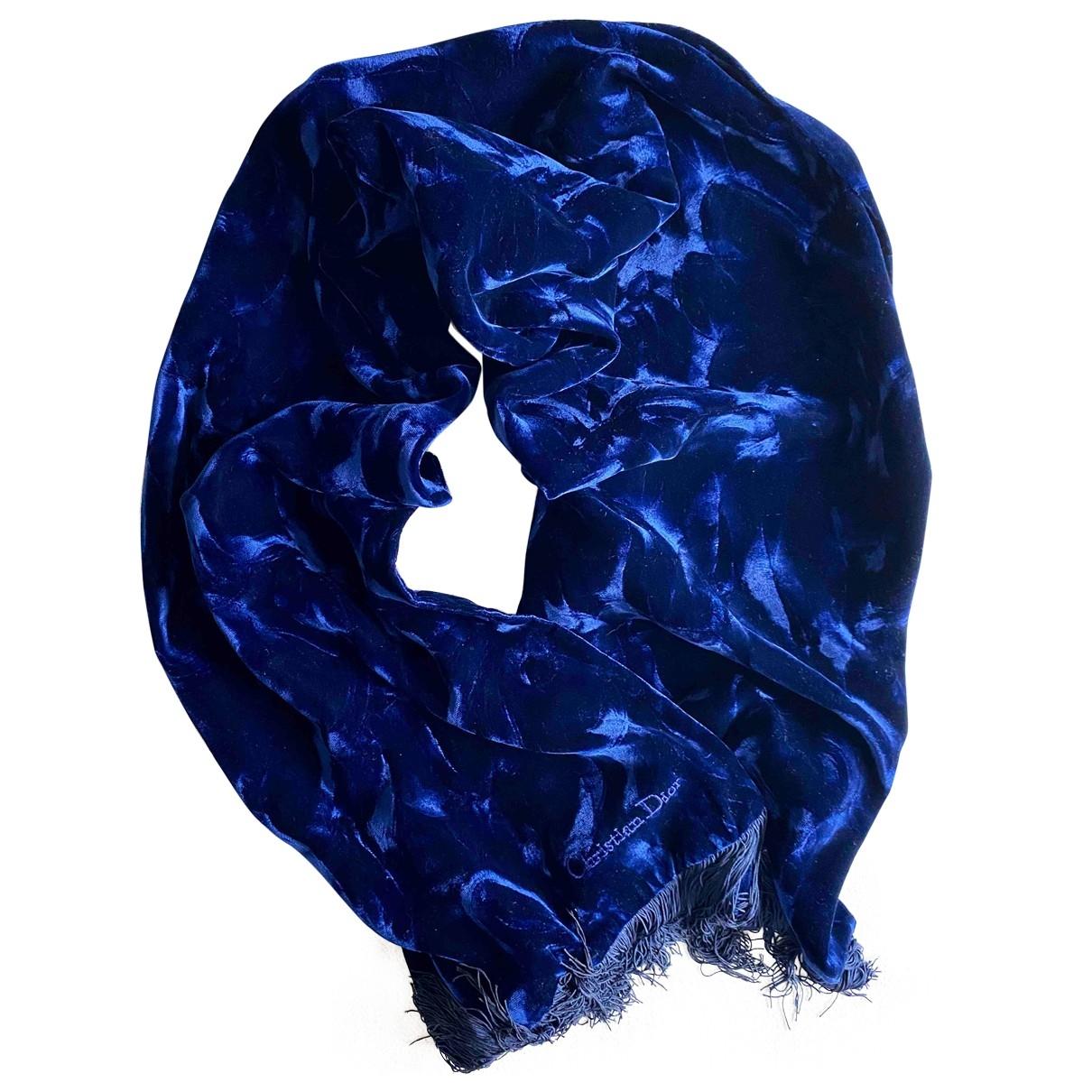 Dior \N Schal in  Blau Samt