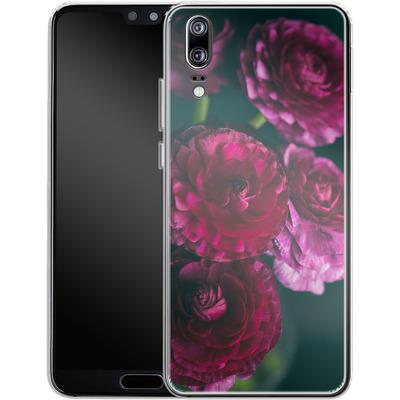 Huawei P20 Silikon Handyhuelle - Purple Ranunculus 2 von Joy StClaire