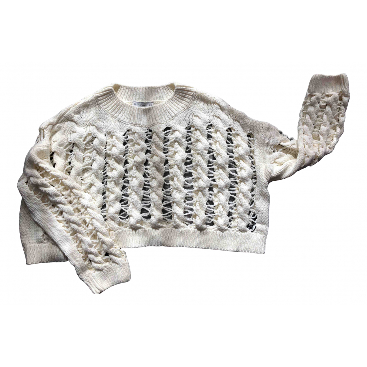 Zara N White Cotton Knitwear for Women S International