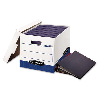 Bankers Box@ Binderbox Letter/Legal Size Heavy-Duty Storage Box, 12/Pack (0073301)