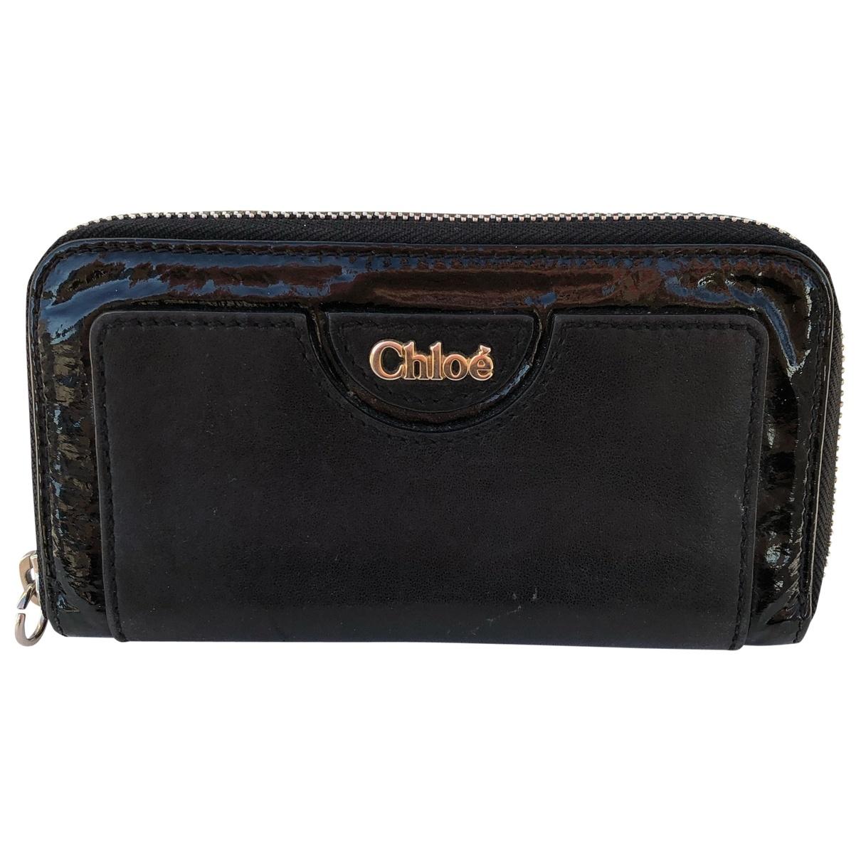 Chloe - Portefeuille   pour femme en cuir - noir