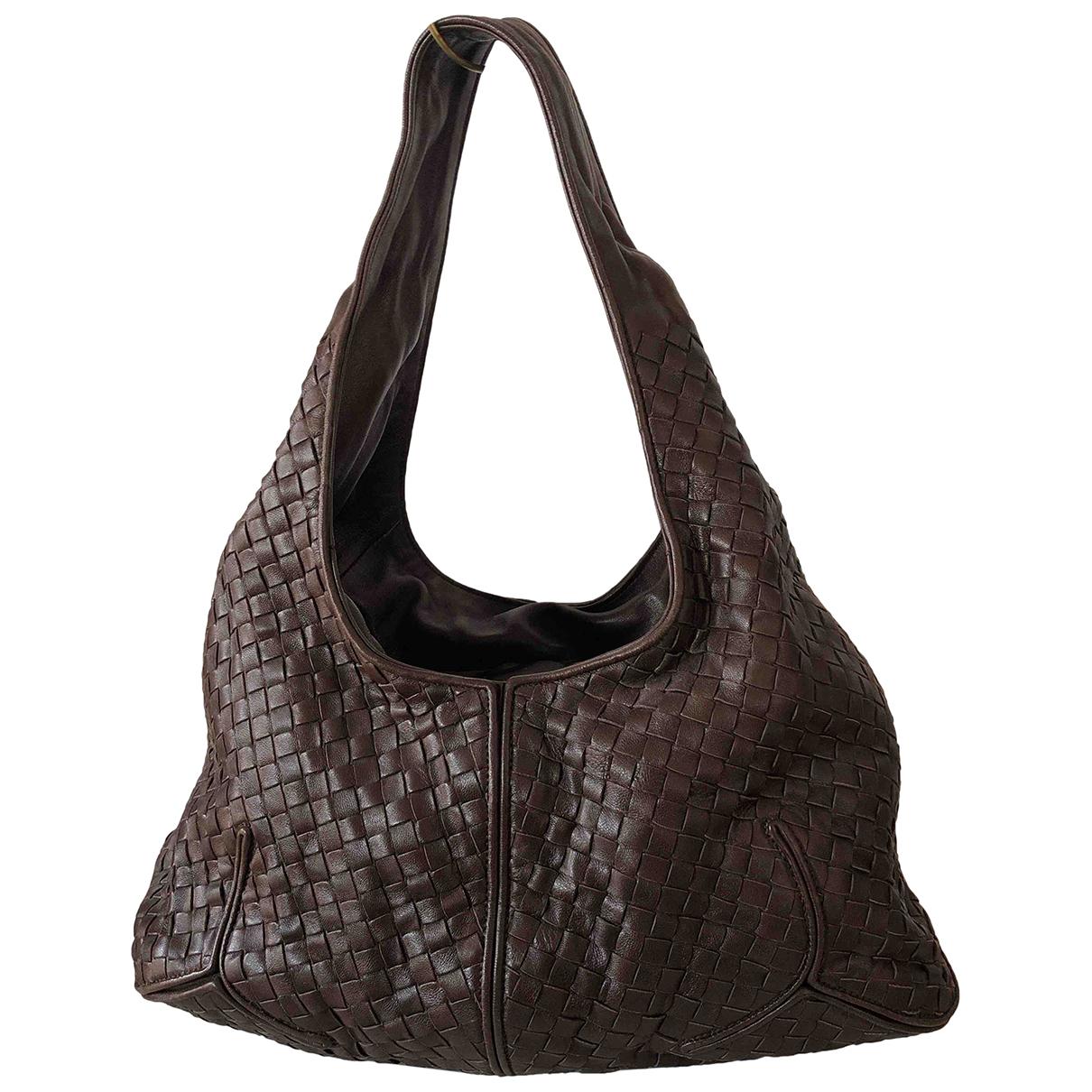 Bottega Veneta - Sac a main Veneta pour femme en cuir - marron