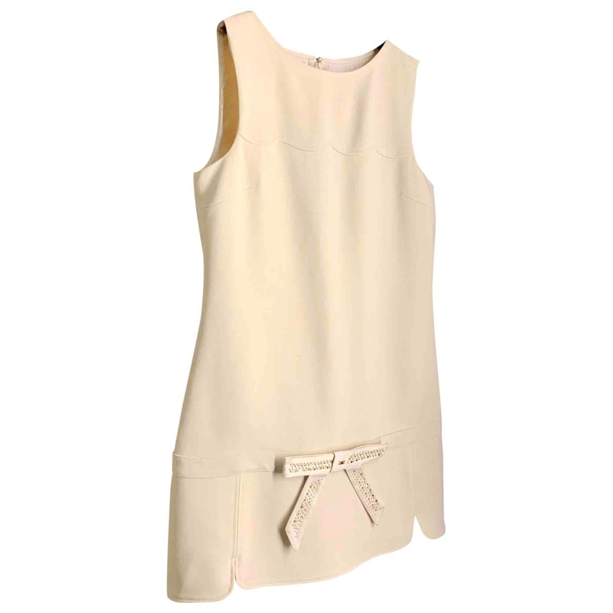 Elisabetta Franchi \N White Cotton dress for Women 44 IT
