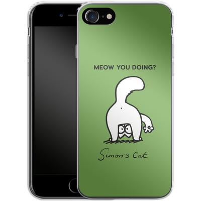 Apple iPhone 7 Silikon Handyhuelle - Meow You Doing? von Simons Cat