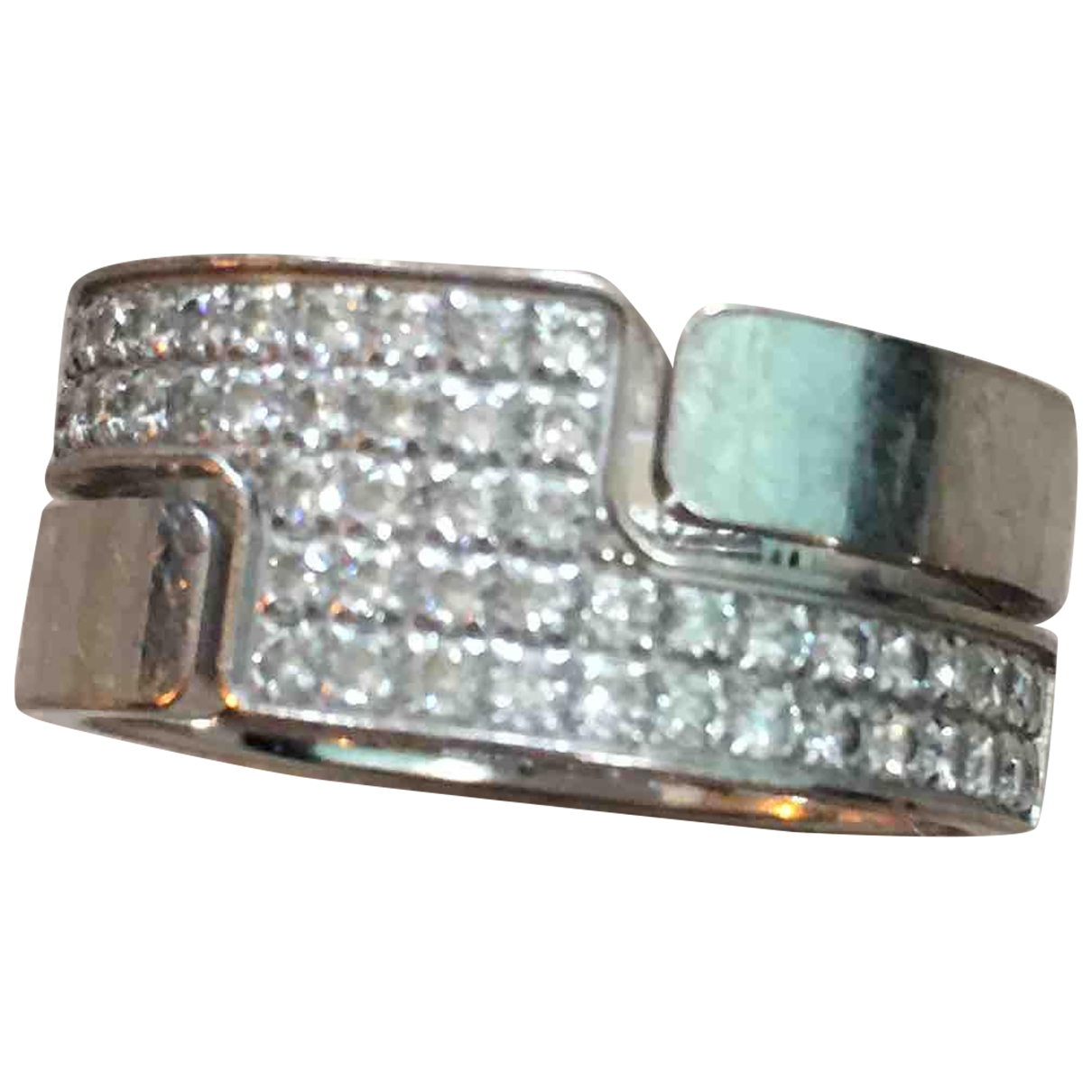 Dinh Van Seventies Silver White gold ring for Women 49 MM