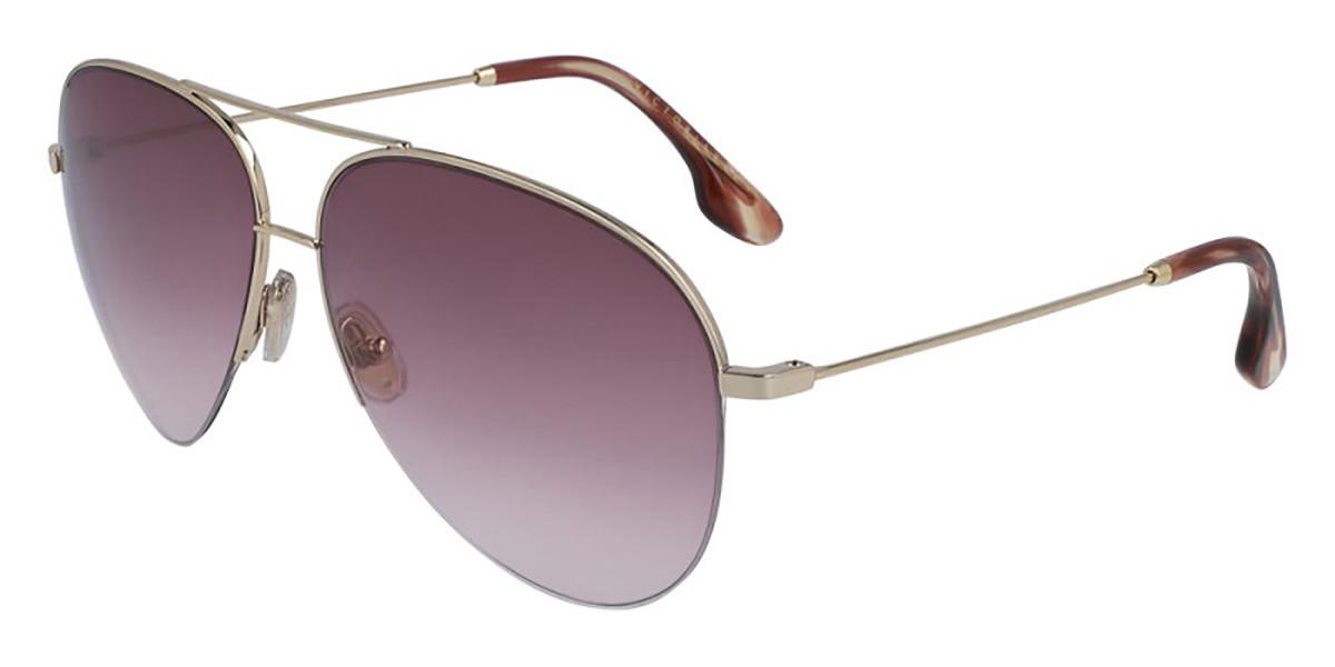 Victoria Beckham VB90S 712 Women's Sunglasses Gold Size 62