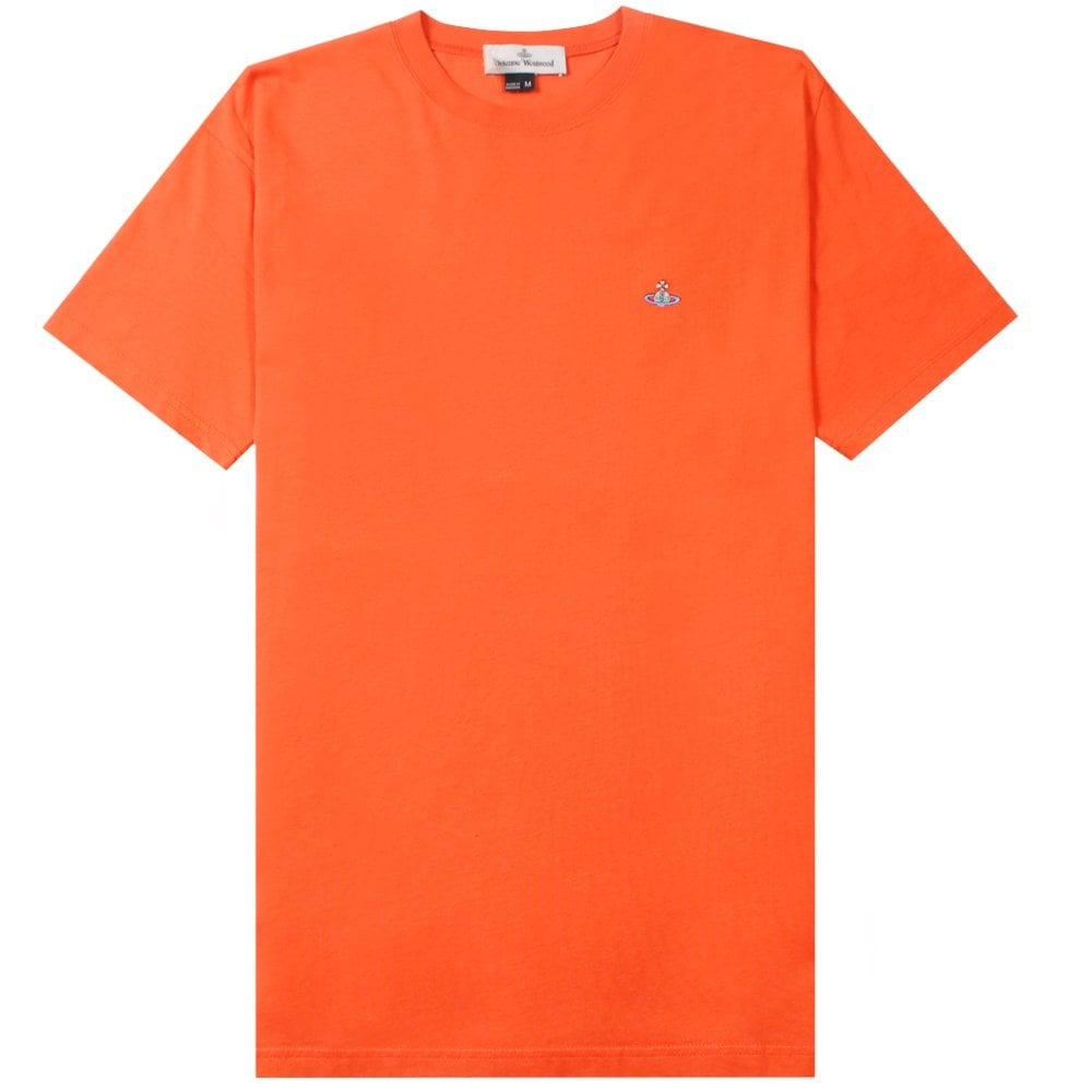 Vivienne Westwood Classic Orb Logo T-Shirt Colour: ORANGE, Size: LARGE