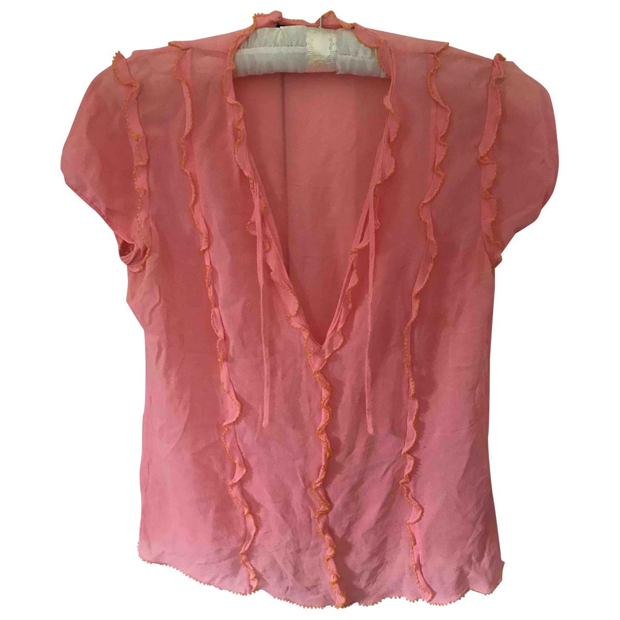 Dkny - Top   pour femme en soie - rose