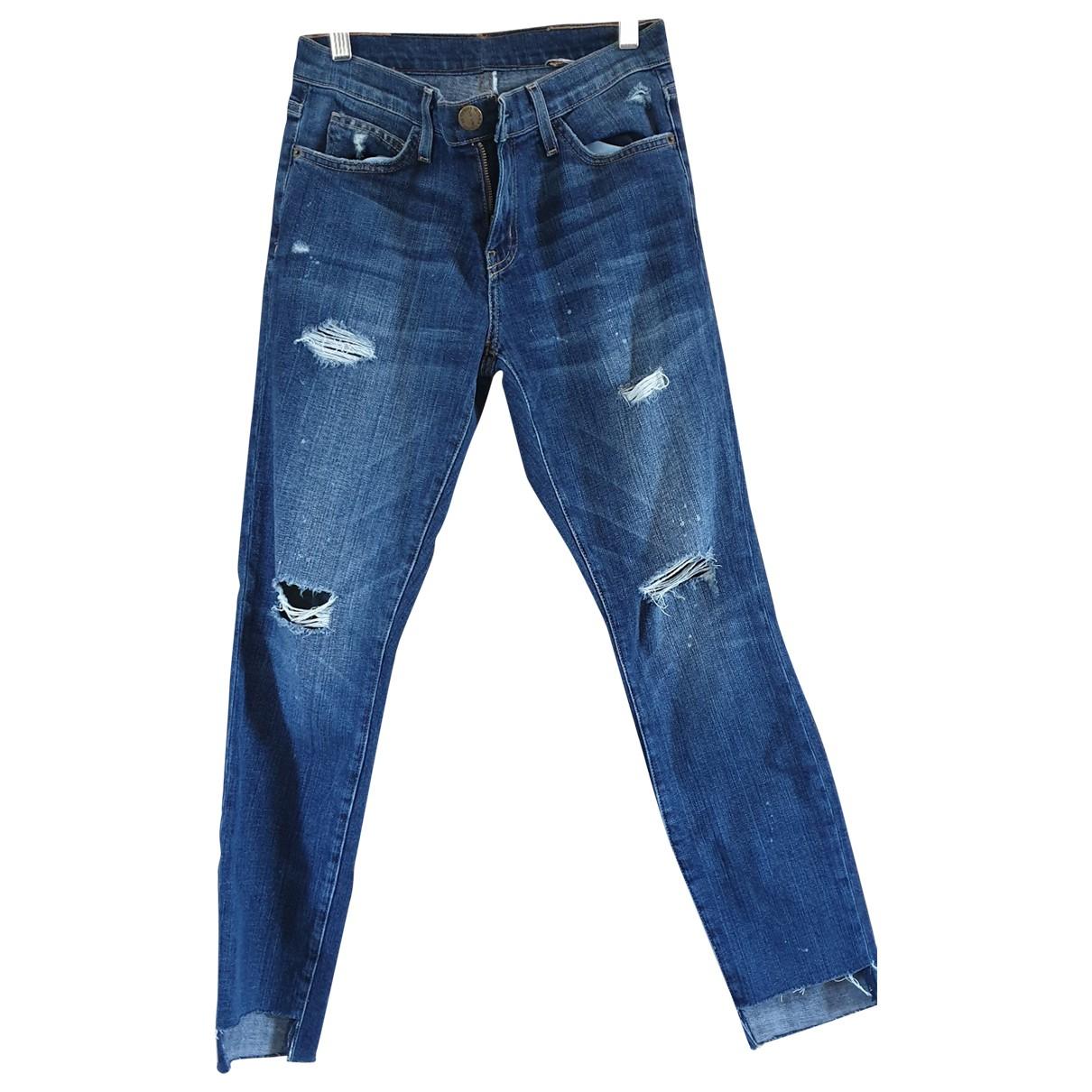 Current Elliott \N Blue Cotton - elasthane Jeans for Women 36 FR