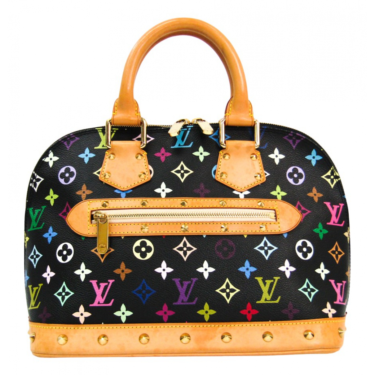Louis Vuitton Alma Black Cloth handbag for Women N