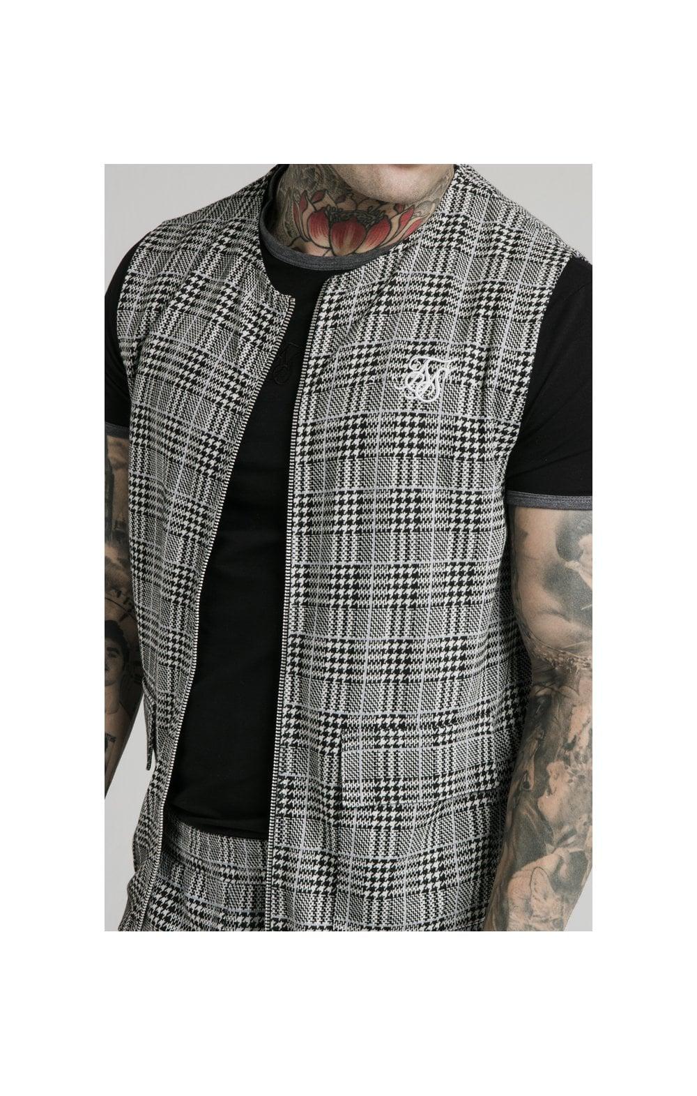 SikSilk Smart Wear Vest - Grey Dogtooth MEN SIZES TOP: Small
