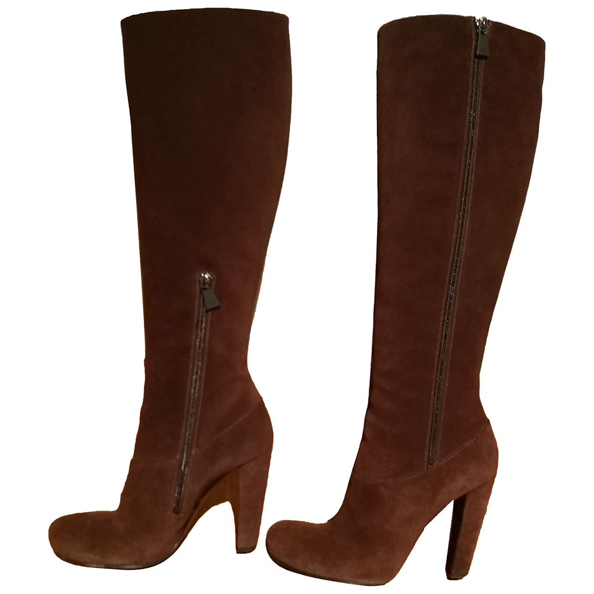 Emporio Armani N Brown Suede Boots for Women 39 IT