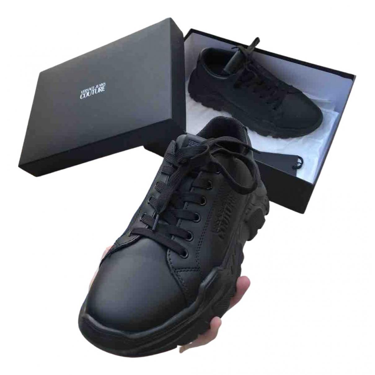 Versace Jeans \N Sneakers in  Schwarz Kunststoff