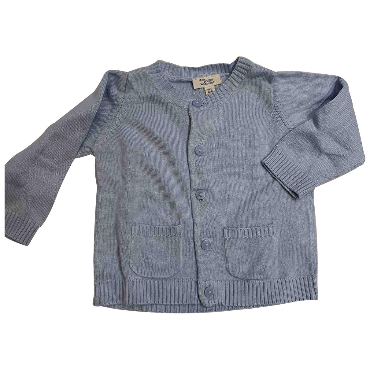 - Pull   pour enfant en coton - turquoise