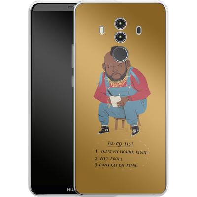 Huawei Mate 10 Pro Silikon Handyhuelle - Mr T To Do List von Louis Ros
