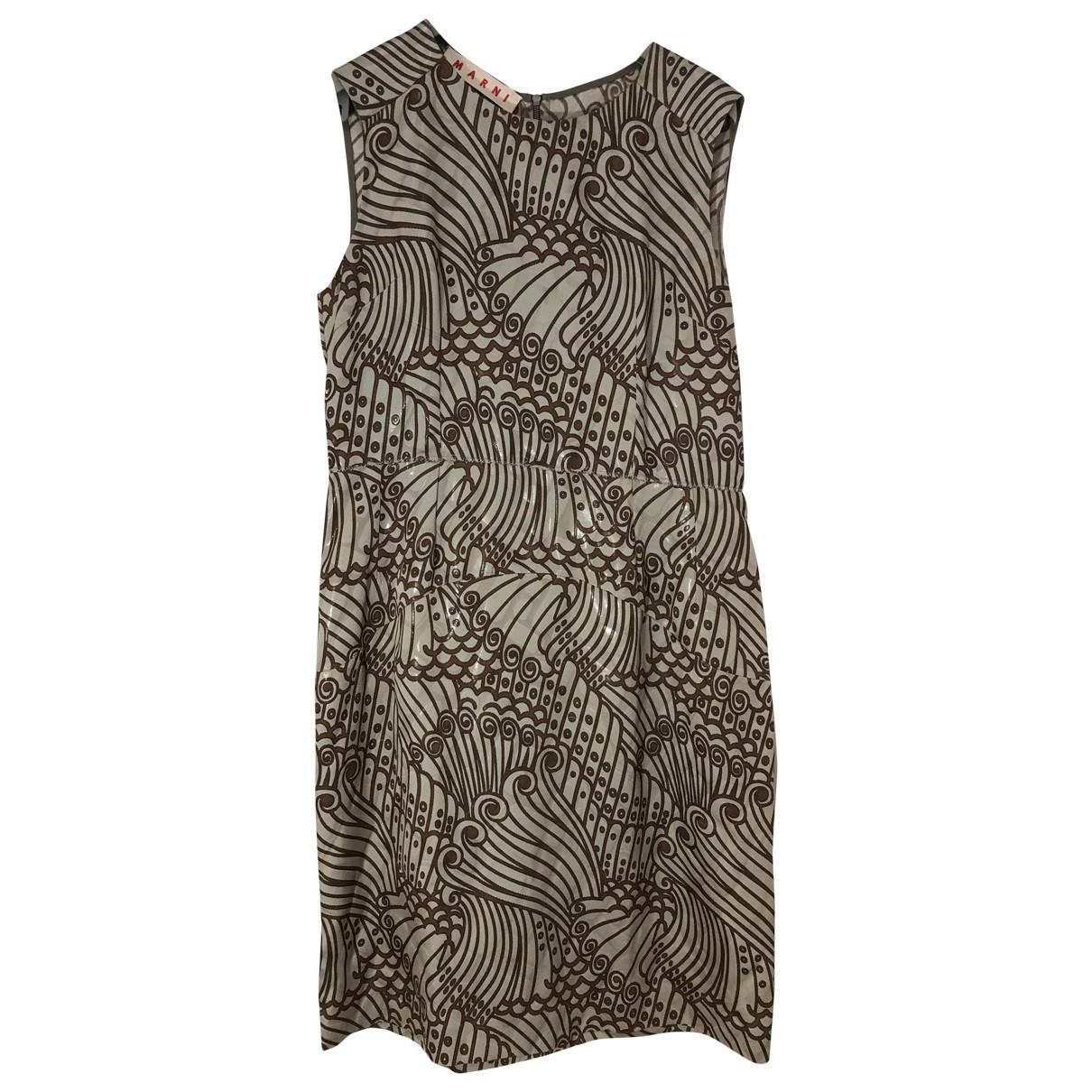 Marni \N Kleid in  Gruen Polyester