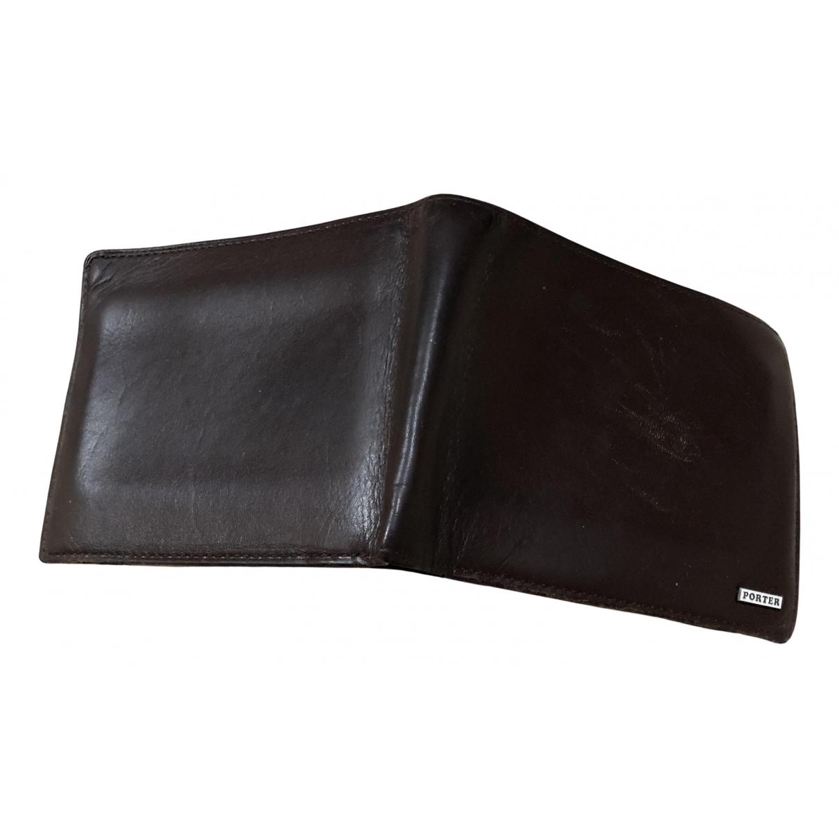 Porter By Yoshida Kaban - Petite maroquinerie   pour homme en cuir - marron