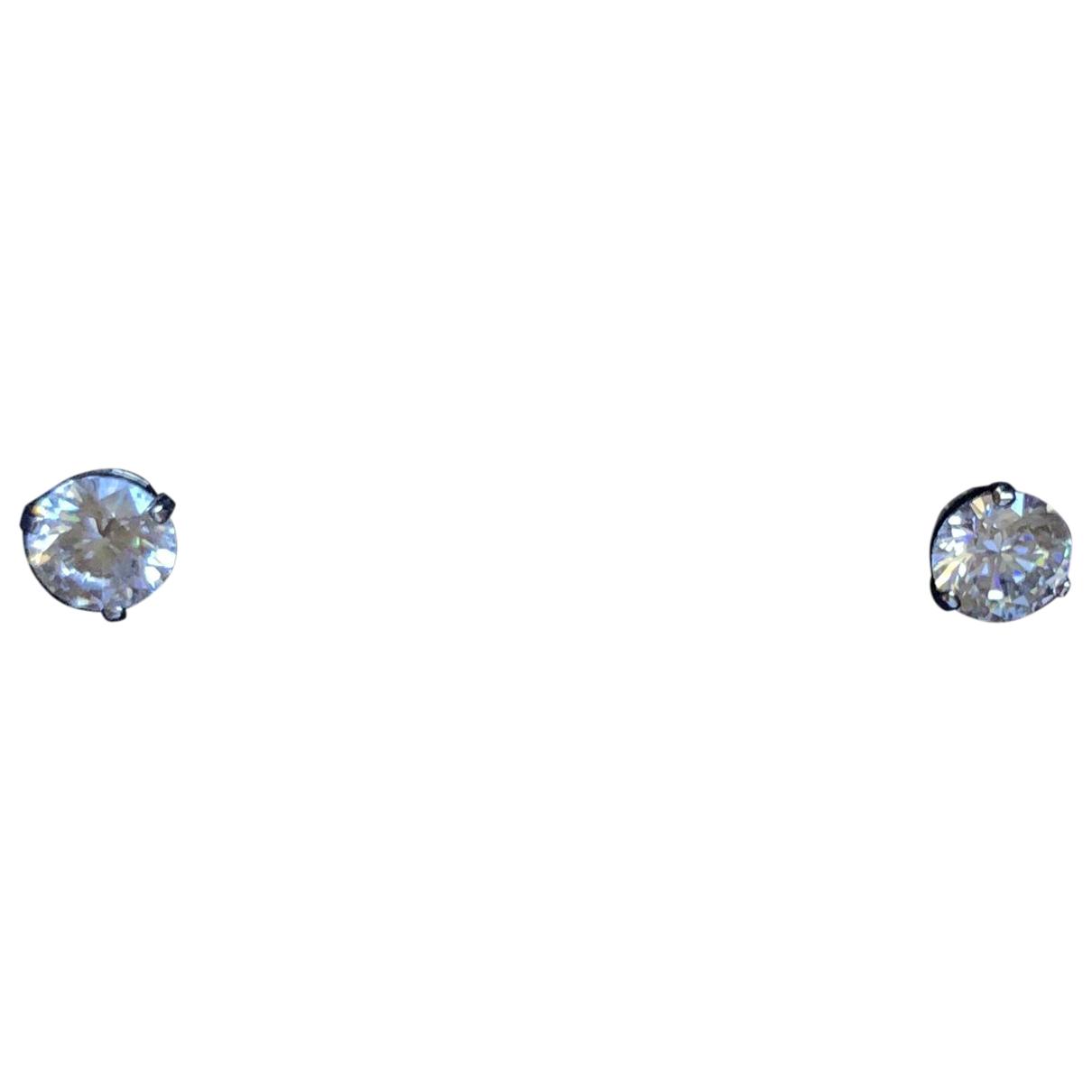Swarovski \N OhrRing in  Weiss Kristall