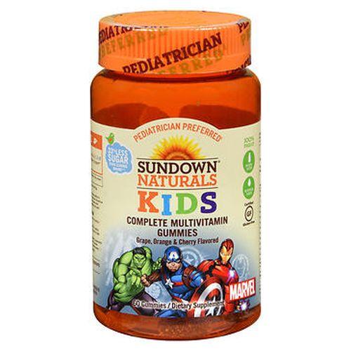 Sundown Naturals Kids Marvel Complete Multivitamin Gummies Grape  Orange and Cherry 60 Each by Sundown Naturals