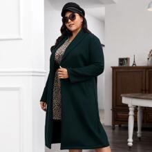 Mantel mit Schal Kragen und schraegen Taschen