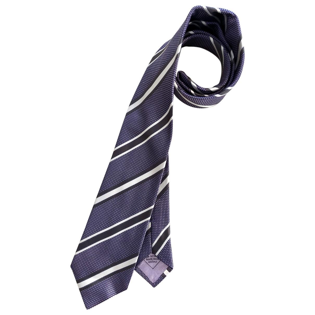 Brioni \N Krawatten in  Lila Seide