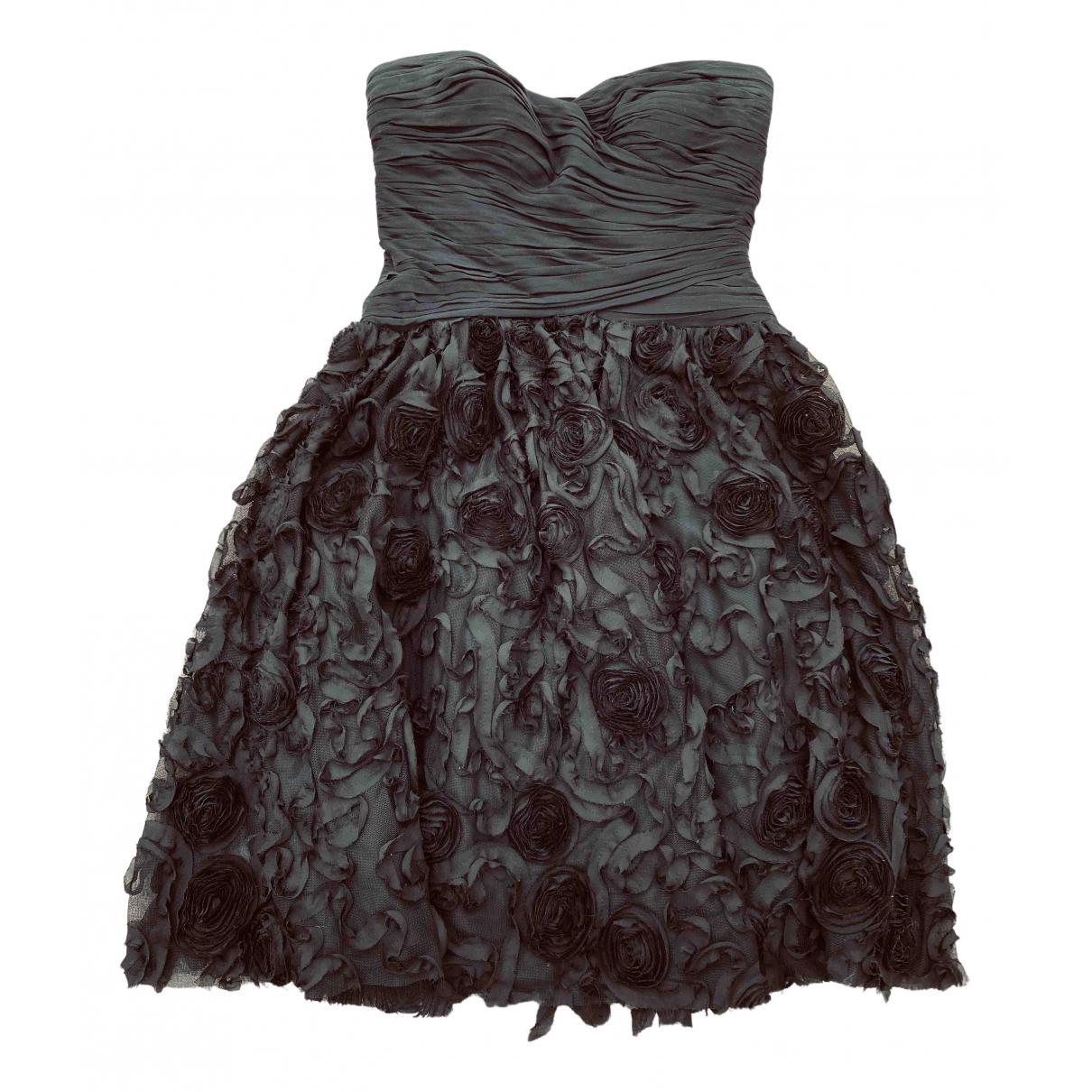 Monique Lhuillier \N Kleid in  Schwarz Polyester