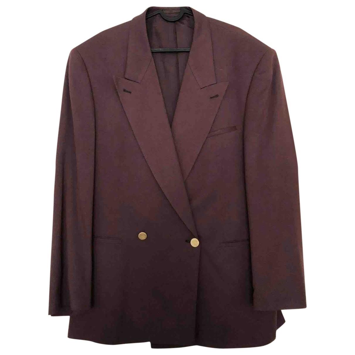 Non Signé / Unsigned Oversize Burgundy Cotton jacket for Women 50-52 IT