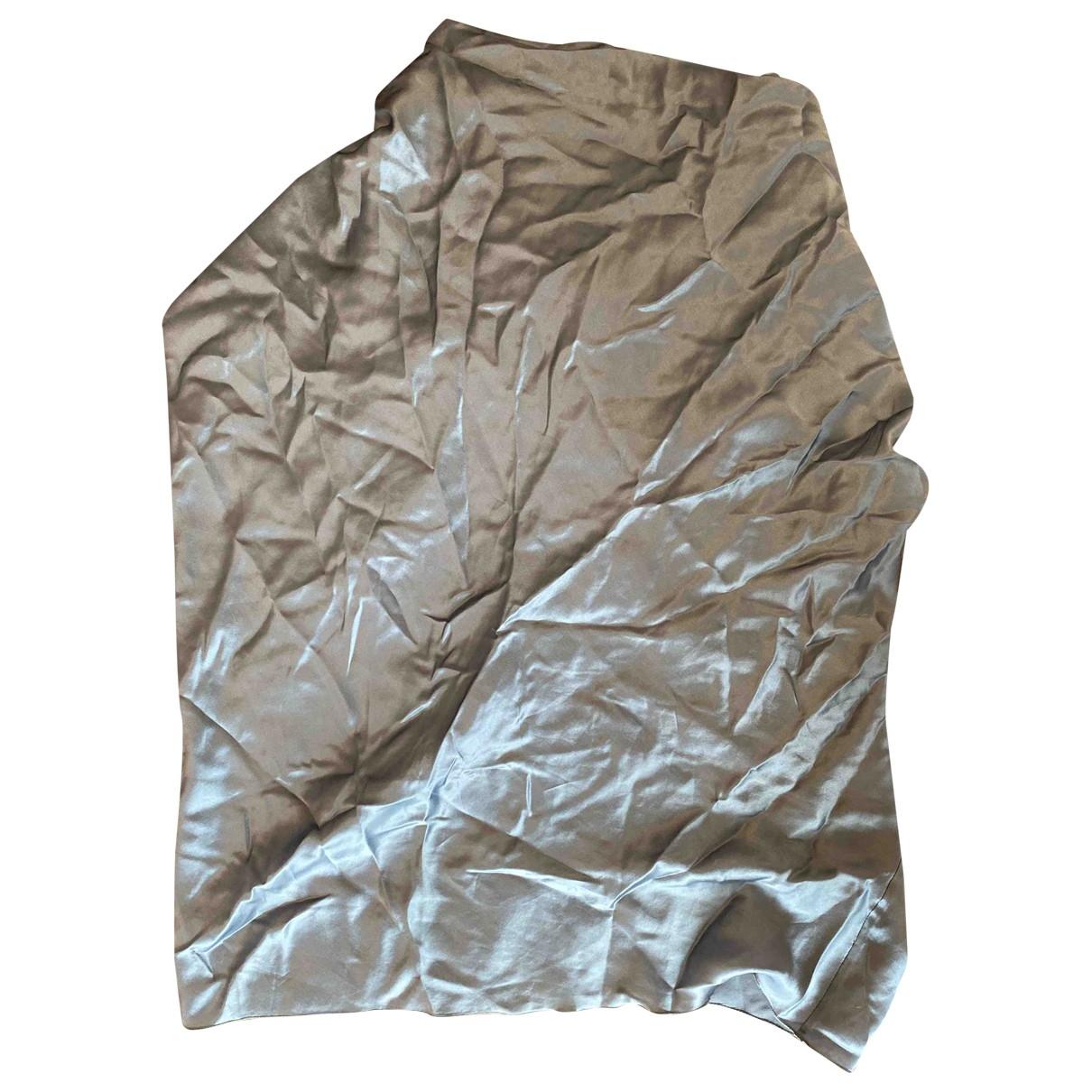 Lanvin \N Silver Silk  top for Women 38 FR