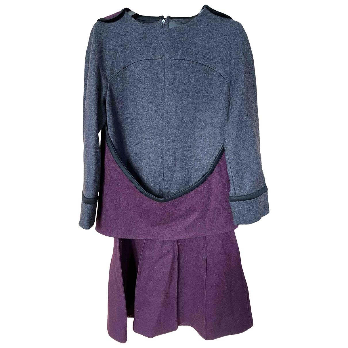 Fendi \N Purple Wool dress for Women 40 IT