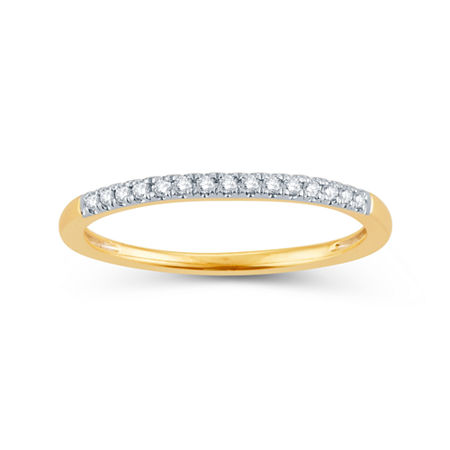 Diamond Accent Genuine White Diamond 14K Gold Round Wedding Band, 8 , No Color Family