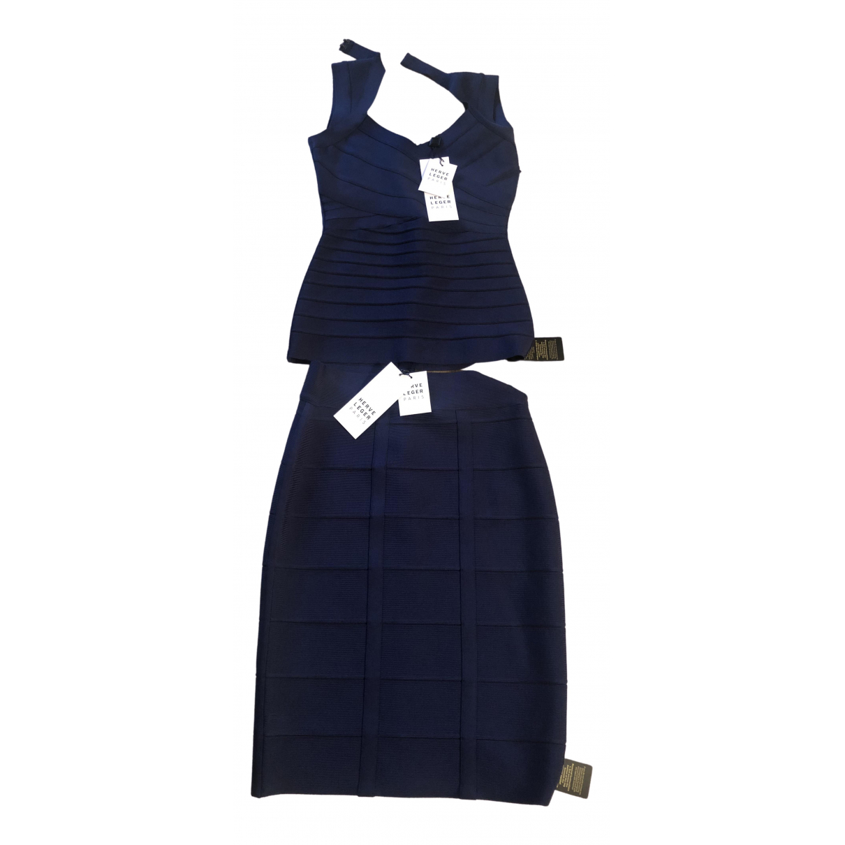 Herve Leger \N Navy dress for Women 12 UK