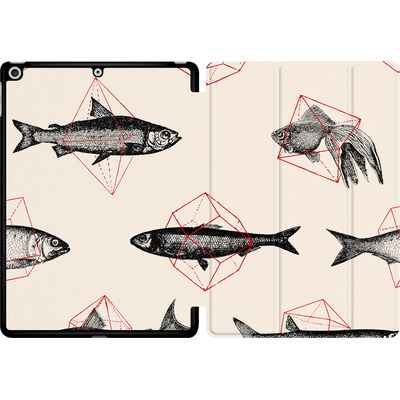 Apple iPad 9.7 (2018) Tablet Smart Case - Fishes in Geometrics von Florent Bodart