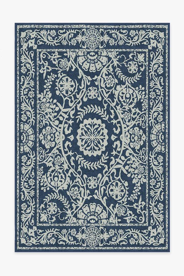 Washable Rug Cover | Delphina Navy Blue Rug | Stain-Resistant | Ruggable | 6'x9'
