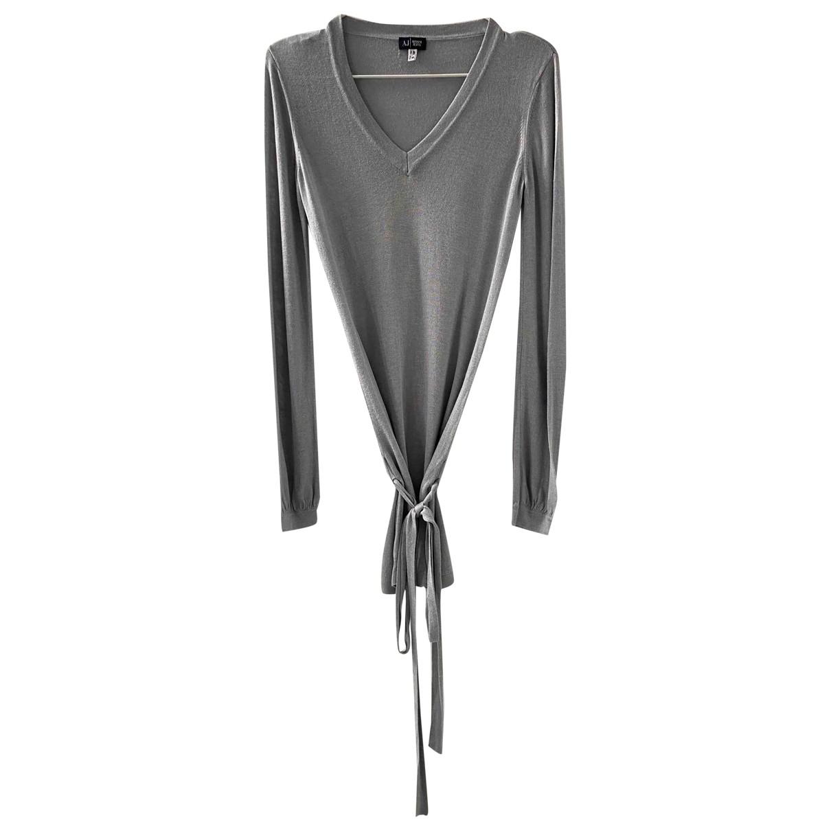 Armani Jeans \N Kleid in  Grau Wolle