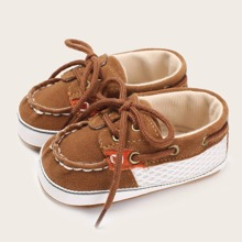 Baby Boy Lace Up Front Flats