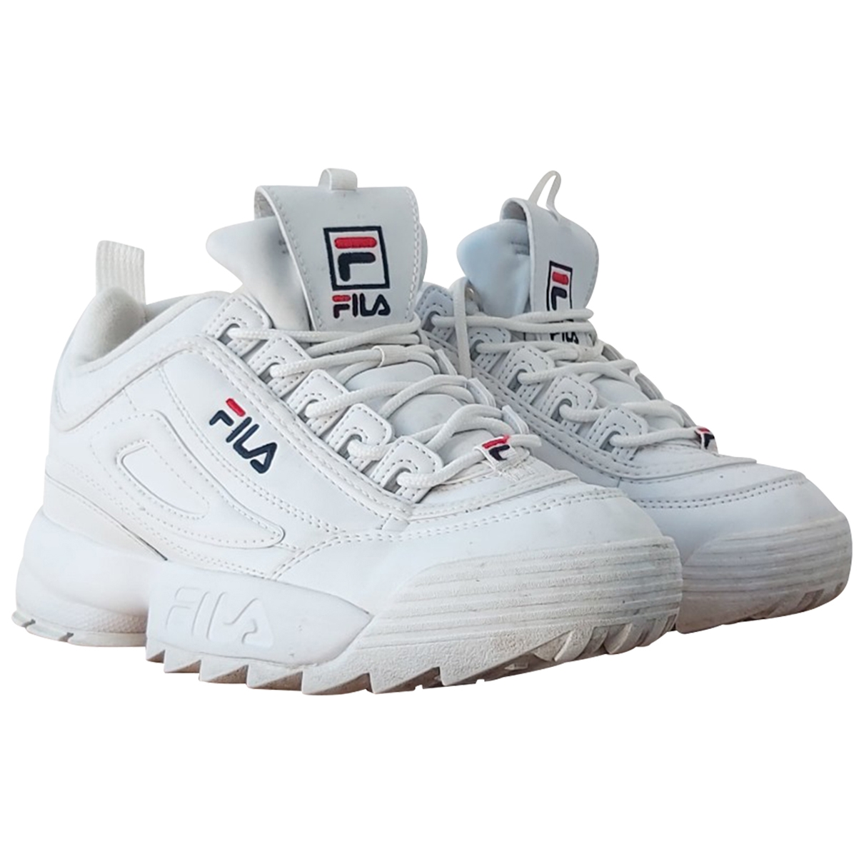 Fila \N White Leather Trainers for Women 5 US