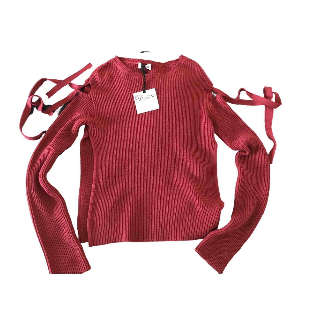 Red Valentino Garavani \N Burgundy Cotton Knitwear for Women 34 FR